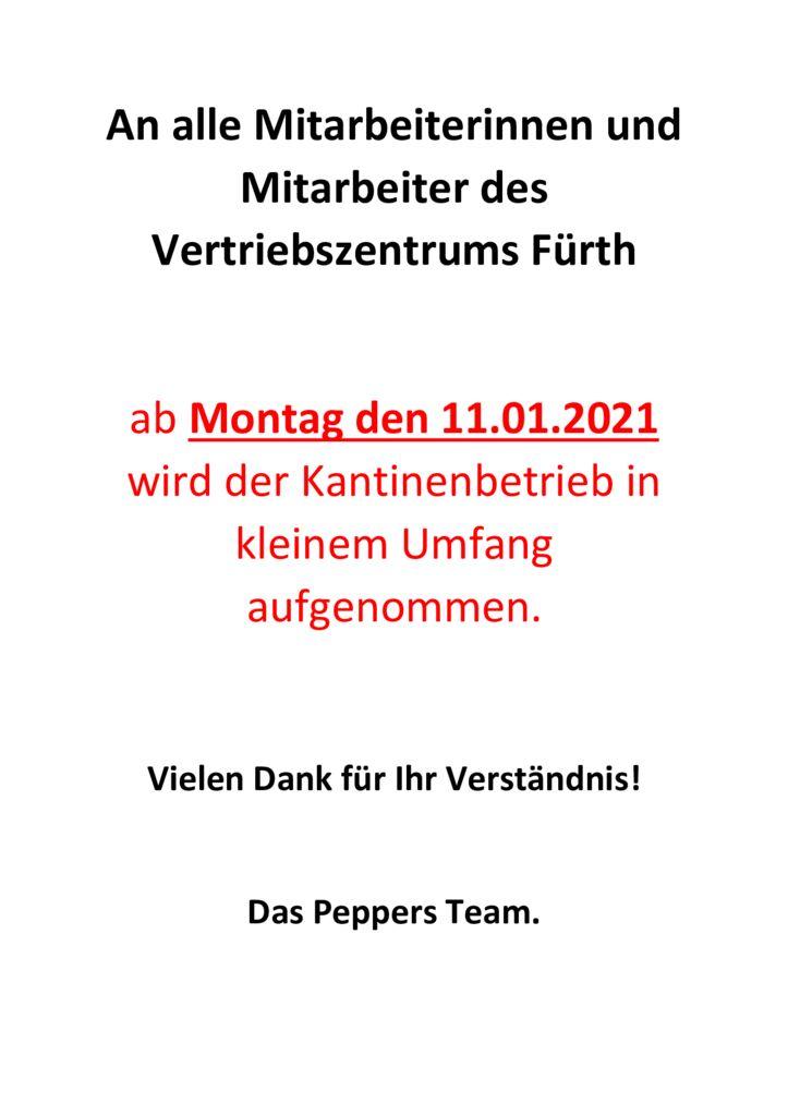 thumbnail of An alle Mitarbeiterinnen und Mitarbeiter des Vertriebszentrums Fürth